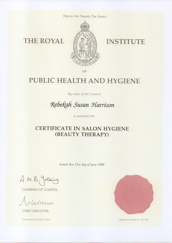 Public Health and Hygiene Certificate